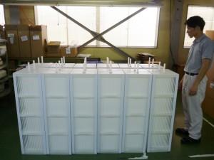 排熱回収用樹脂製熱交換器の納品